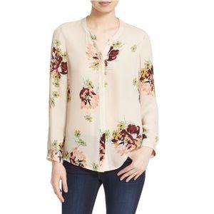 Joie 'Devitri' Floral Print Silk Blouse